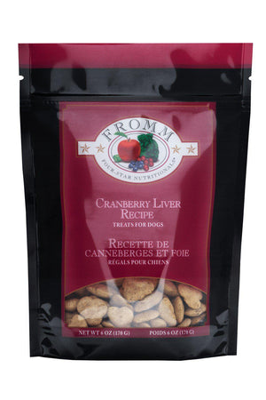 Fromm Dog Treats Four-Star Nutritionals Cranberry Liver Recipe 6oz-Le Pup Pet Supplies and Grooming