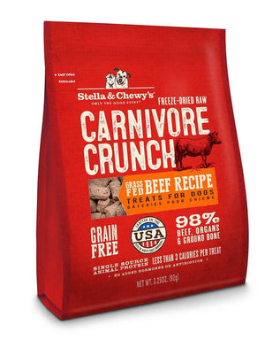 Stella & Chewy's Beef Recipe Carnivore Crunch Grain-Free Freeze-Dried Raw Dog Treats-Le Pup Pet Supplies and Grooming