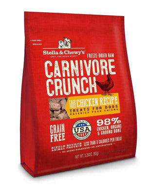 Stella & Chewy's Chicken Recipe Carnivore Crunch Grain-Free Freeze-Dried Raw Dog Treats-Le Pup Pet Supplies and Grooming