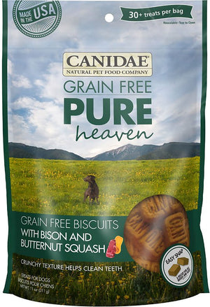 Canidae Pure Heaven Grain-Free Biscuits Bison and Butternut Squash Crunchy Dog Treats, 11oz.-Le Pup Pet Supplies and Grooming