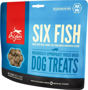 Orijen Six Fish Freeze-Dried Dog Treats-Le Pup Pet Supplies and Grooming