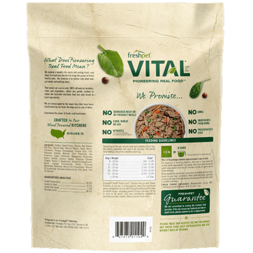Freshpet Vital Fresh Cuts Chicken Recipe with Sweet Potatoes and Carrots Dog Food