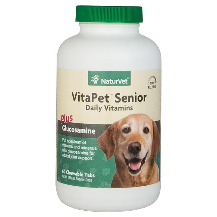 NaturVet VitaPet Senior Plus Glucosamine Tablets Time Release Dog Supply-Le Pup Pet Supplies and Grooming