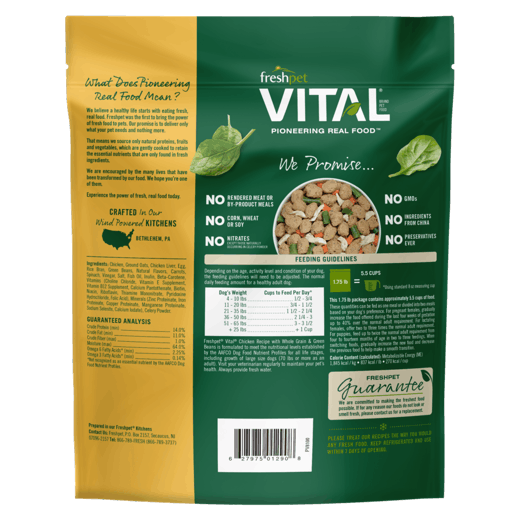 Freshpet Vital Balanced Nutrition Chicken with Whole Grains & Green Beans Recipe Dog Food