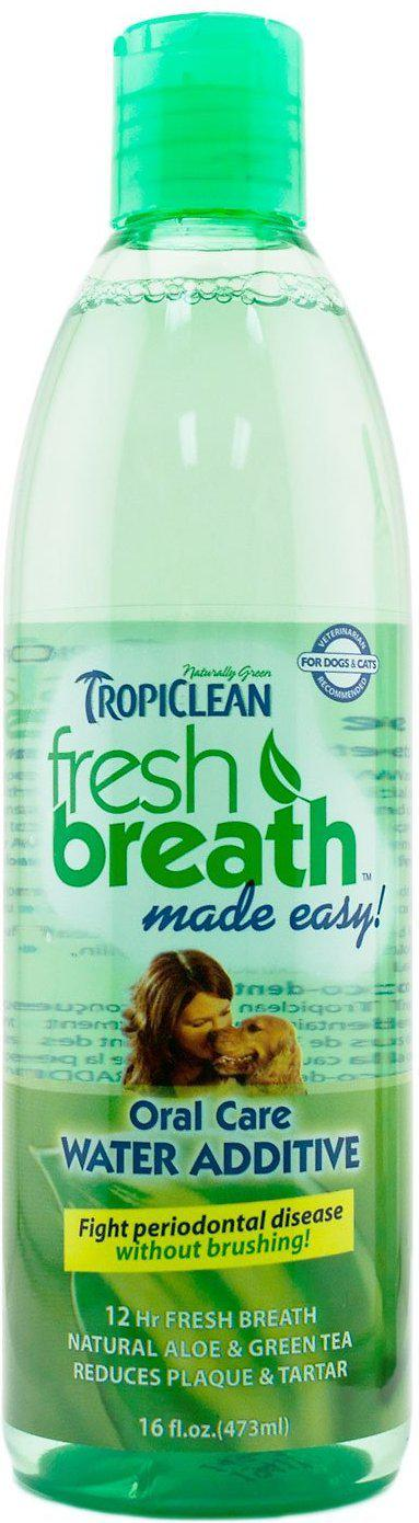 TropiClean Fresh Breath Water Additive Oral Care for Dogs and Cats-Le Pup Pet Supplies and Grooming