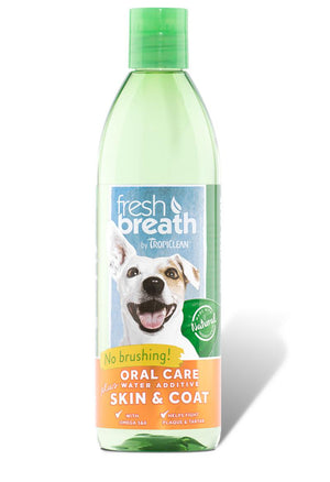 TropiClean Fresh Breath Water Additive Plus Skin & Coat Oral Care for Dogs and Cats-Le Pup Pet Supplies and Grooming