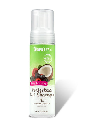 TropiClean Waterless Deep Cleaning Shampoo for Cats, 7.4FL oz-Le Pup Pet Supplies and Grooming
