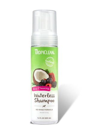 TropiClean Waterless Deep Cleaning Shampoo for Dogs, 7.4FL oz-Le Pup Pet Supplies and Grooming