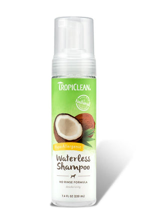 TropiClean Waterless Hypo-Allergenic Pet Shampoo for Dogs and Cats, 7.4oz.-Le Pup Pet Supplies and Grooming