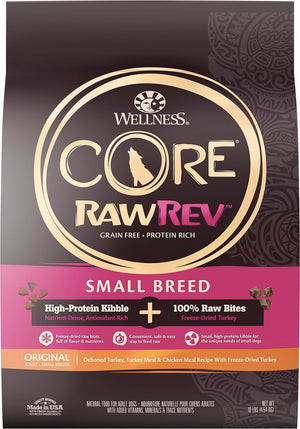Wellness CORE RawRev Grain-Free Small Breed Original Recipe with Freeze-Dried Turkey Dry Dog Food