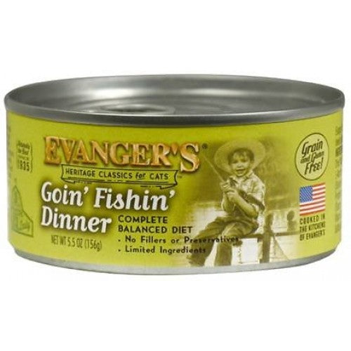 Evanger's Classic Goin' Fishin' Dinner Grain-Free Wet Cat Food-Le Pup Pet Supplies and Grooming