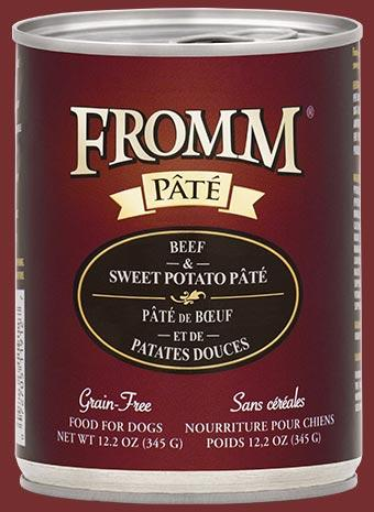 Fromm Grain-Free Beef & Sweet Potato Pâté Wet Dog Food-Le Pup Pet Supplies and Grooming