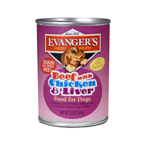 Evanger's Classic Beef with Chicken & Liver Grain-Free Wet Dog Food-Le Pup Pet Supplies and Grooming