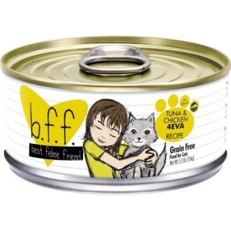 Weruva BFF Tuna & Chicken 4Eva Grain-Free Wet Cat Food-Le Pup Pet Supplies and Grooming