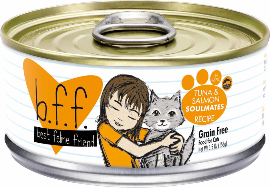 Weruva BFF Tuna & Salmon Soulmates Grain-Free Wet Cat Food-Le Pup Pet Supplies and Grooming