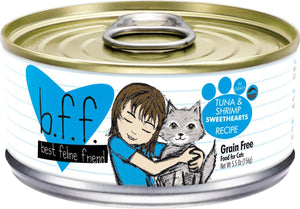 Weruva BFF Tuna & Shrimp Sweethearts Grain-Free Wet Cat Food-Le Pup Pet Supplies and Grooming