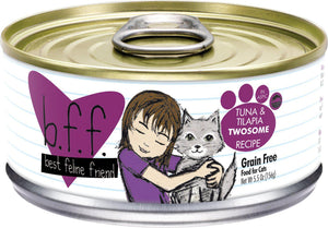 Weruva BFF Tuna & Tilapia Twosome Grain-Free Wet Cat Food-Le Pup Pet Supplies and Grooming