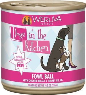 Weruva Dogs In the Kitchen Fowl Ball Grain-Free Wet Dog Food-Le Pup Pet Supplies and Grooming