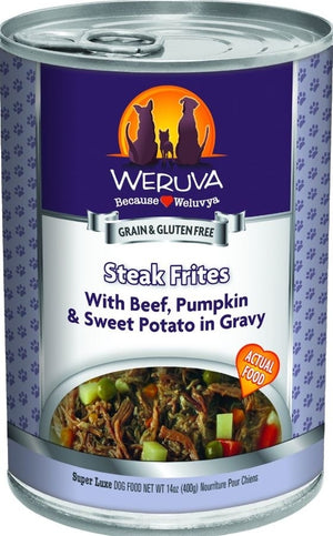 Weruva Steak Frites Grain-Free Wet Dog Food-Le Pup Pet Supplies and Grooming