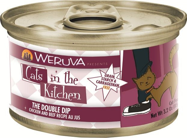 Weruva Cats In the Kitchen The Double Dip Grain-Free Wet Cat Food-Le Pup Pet Supplies and Grooming