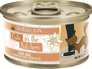Weruva Cats In the Kitchen Fowl Ball Grain-Free Wet Cat Food-Le Pup Pet Supplies and Grooming