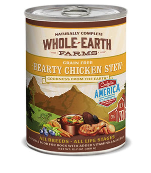 Whole Earth Farms Grain-Free Hearty Chicken Stew Wet Dog Food-Le Pup Pet Supplies and Grooming