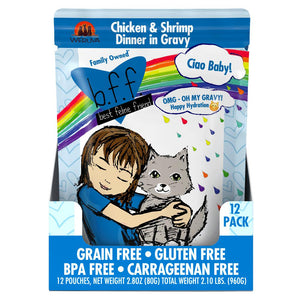 Weruva BFF Oh My Gravy Ciao Baby! Pouch Grain-Free Wet Cat Food-Le Pup Pet Supplies and Grooming