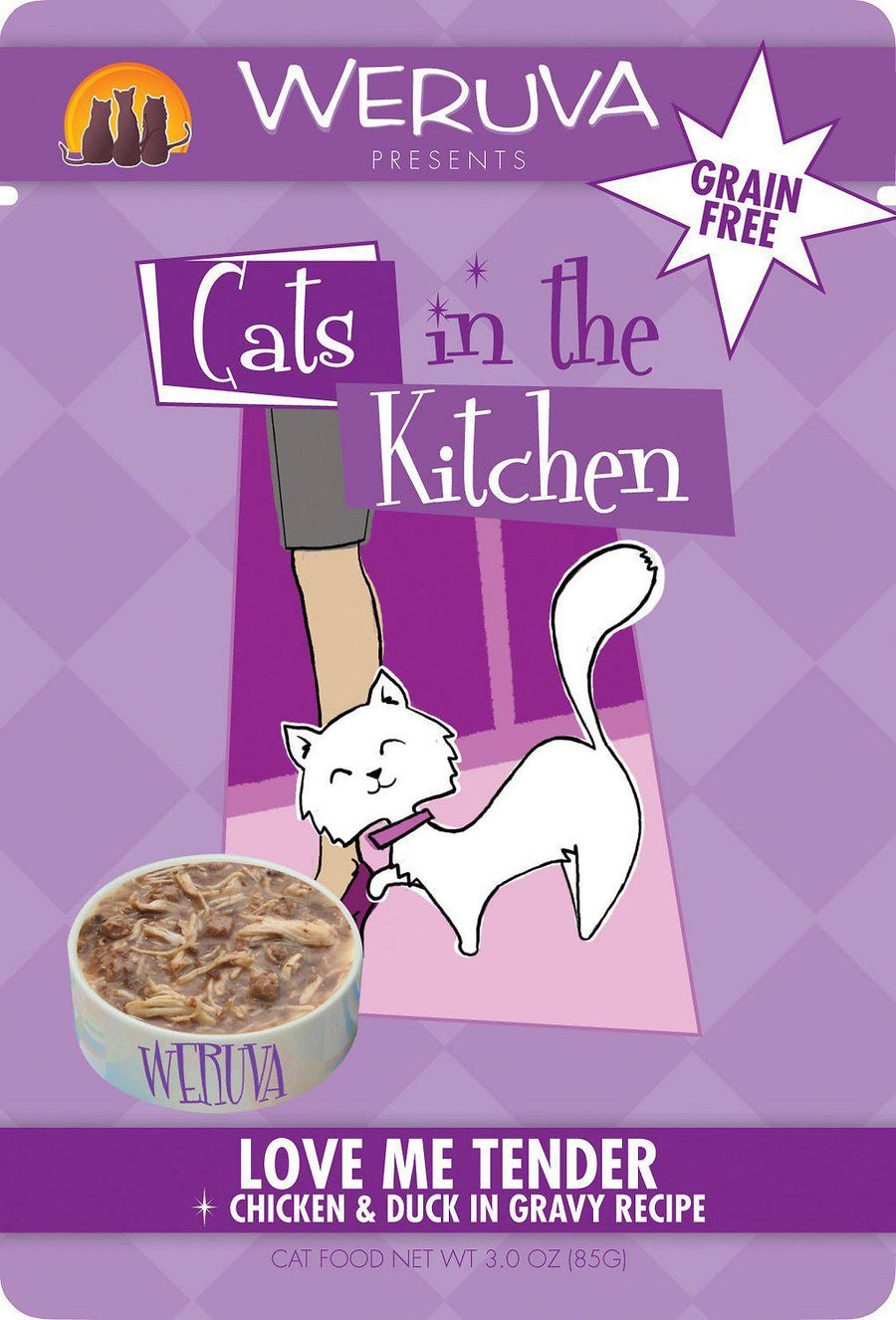 Weruva Cats In the Kitchen Love Me Tender Pouch Grain-Free Wet Cat Food-Le Pup Pet Supplies and Grooming