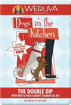 Weruva Dogs in the Kitchen The Double Dip Pouch Grain-Free Wet Dog Food-Le Pup Pet Supplies and Grooming