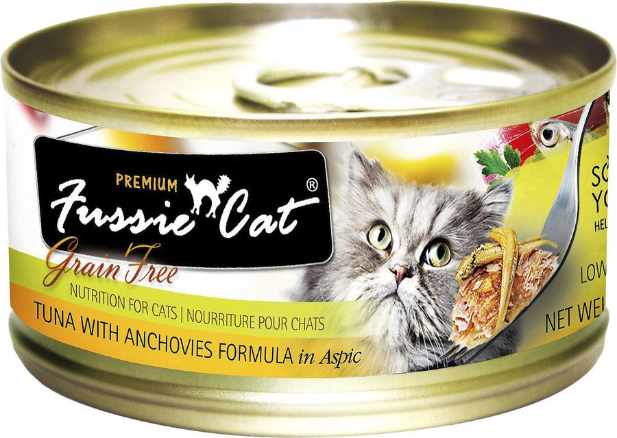 Fussie Cat Premium Tuna with Anchovies Formula in Aspic Grain-Free Wet Cat Food-Le Pup Pet Supplies and Grooming