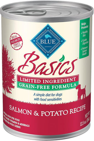Blue Buffalo Basics Limited Ingredient Grain-Free Salmon & Potato Wet Dog Food-Le Pup Pet Supplies and Grooming