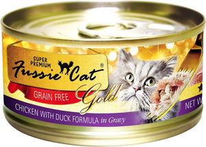 Fussie Cat Super Premium Chicken with Duck Formula in Gravy Grain-Free Wet Cat Food-Le Pup Pet Supplies and Grooming