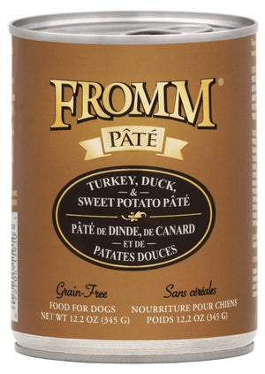 Fromm Grain-Free Turkey, Duck, & Sweet Potato Pâté Wet Dog Food-Le Pup Pet Supplies and Grooming