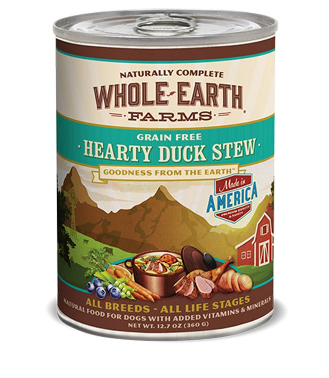 Whole Earth Farms Grain-Free Hearty Duck Stew Wet Dog Food-Le Pup Pet Supplies and Grooming