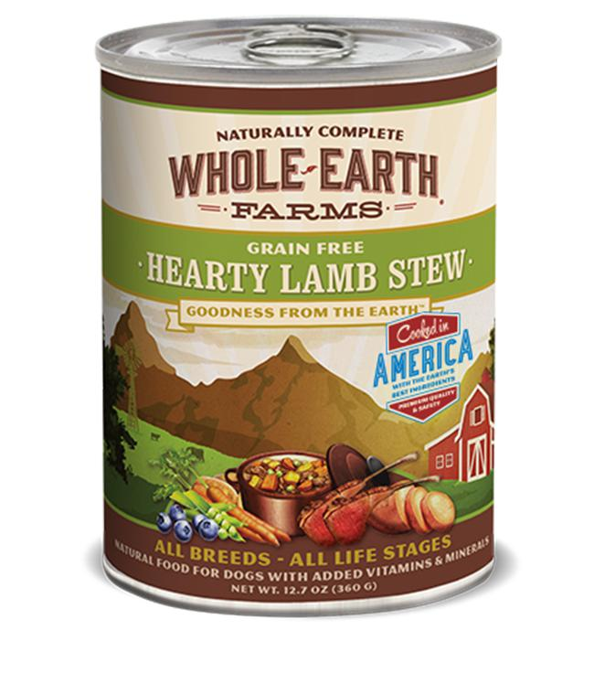 Whole Earth Farms Grain-Free Hearty Lamb Stew Wet Dog Food-Le Pup Pet Supplies and Grooming