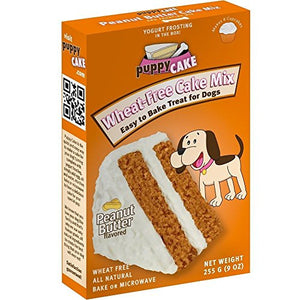 Puppy Cake Wheat-Free Cake Mix - Peanut Butter Grain-Free Dog Treat, 9oz.-Le Pup Pet Supplies and Grooming