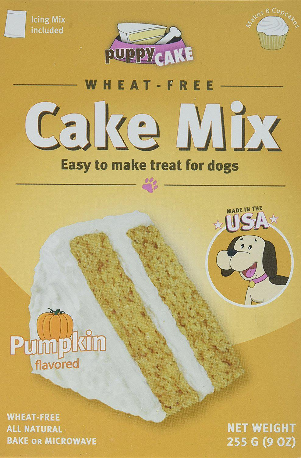 Puppy Cake Wheat-Free Cake Mix - Pumpkin Grain-Free Dog Treat, 9oz.-Le Pup Pet Supplies and Grooming
