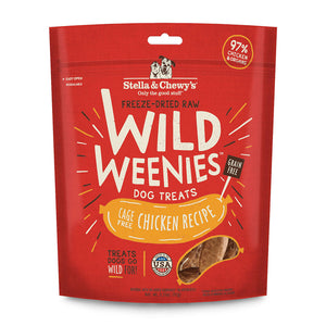 Stella & Chewy's Wild Weenies  Cage-Free Chicken Freeze-Dried Raw Dog Treats, 3.25oz