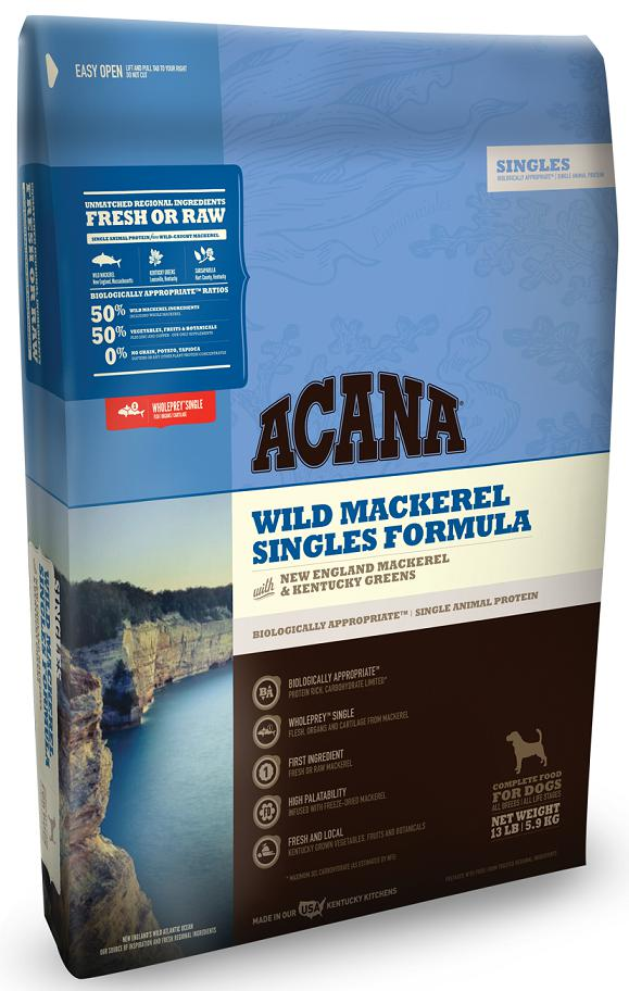 Acana Singles Wild Mackerel Grain-Free Dry Dog Food-Le Pup Pet Supplies and Grooming