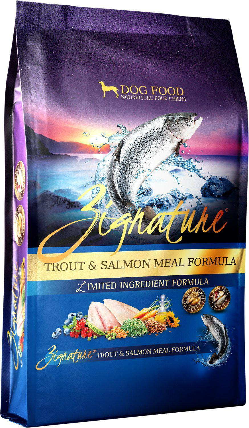 Zignature Trout & Salmon Meal Limited Ingredient Formula Grain-Free Dry Dog Food-Le Pup Pet Supplies and Grooming