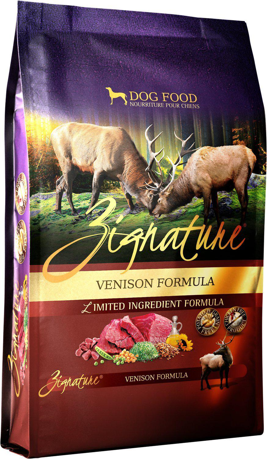 Zignature Venison Limited Ingredient Formula Grain-Free Dry Dog Food-Le Pup Pet Supplies and Grooming