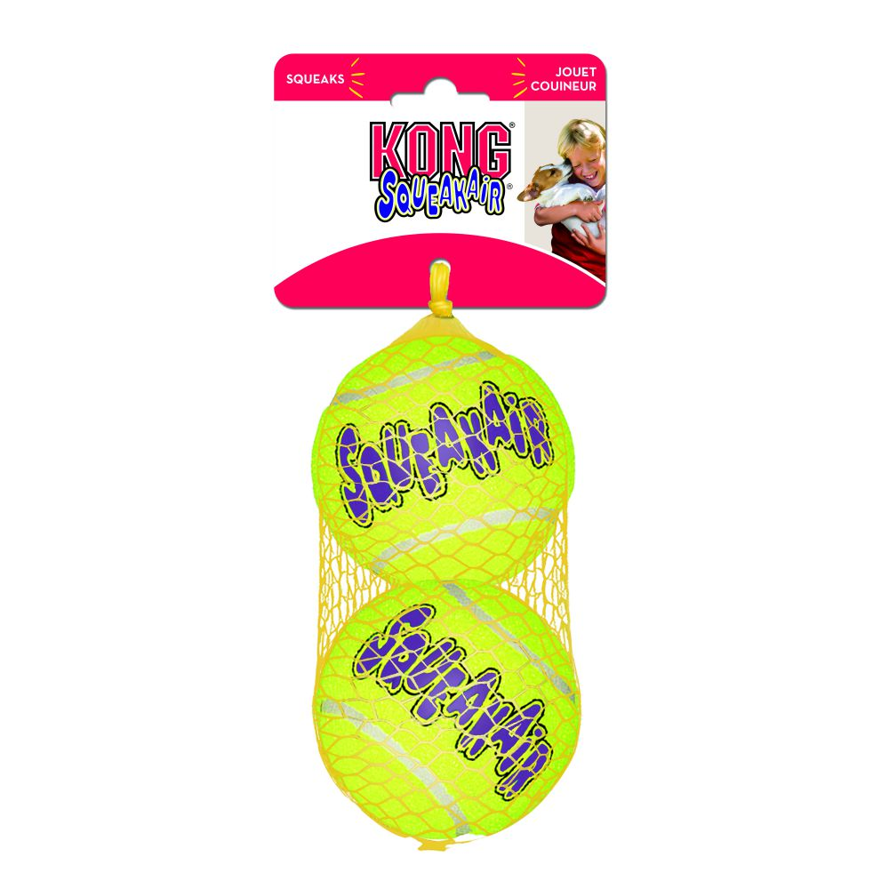 Kong SqueakAir Balls Dog Toy, 2-pack-Le Pup Pet Supplies and Grooming
