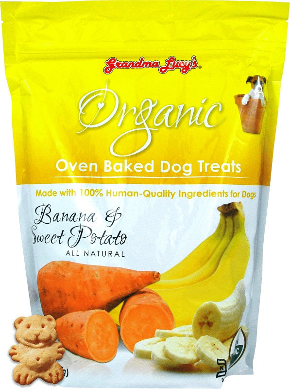 Grandma Lucy's Organic Banana & Sweet Potato Oven Baked Dog Treats, 14oz.-Le Pup Pet Supplies and Grooming