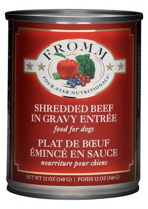 Fromm Four-Star Nutritionals Shredded Beef in Gravy Wet Dog Food-Le Pup Pet Supplies and Grooming