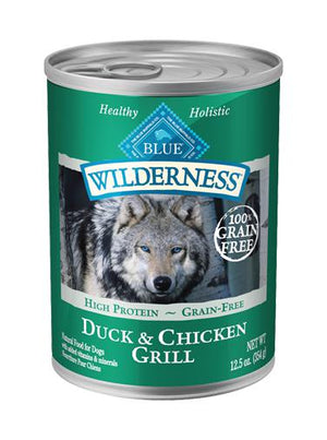 Blue Buffalo Wilderness Duck & Chicken Grill Grain-Free Wet Dog Food-Le Pup Pet Supplies and Grooming