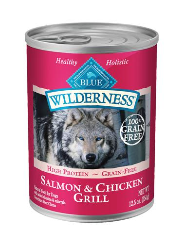 Blue Buffalo Wilderness Salmon & Chicken Grill Grain-Free Wet Dog Food-Le Pup Pet Supplies and Grooming