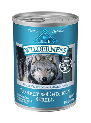 Blue Buffalo Wilderness Turkey & Chicken Grill Grain-Free Wet Dog Food-Le Pup Pet Supplies and Grooming