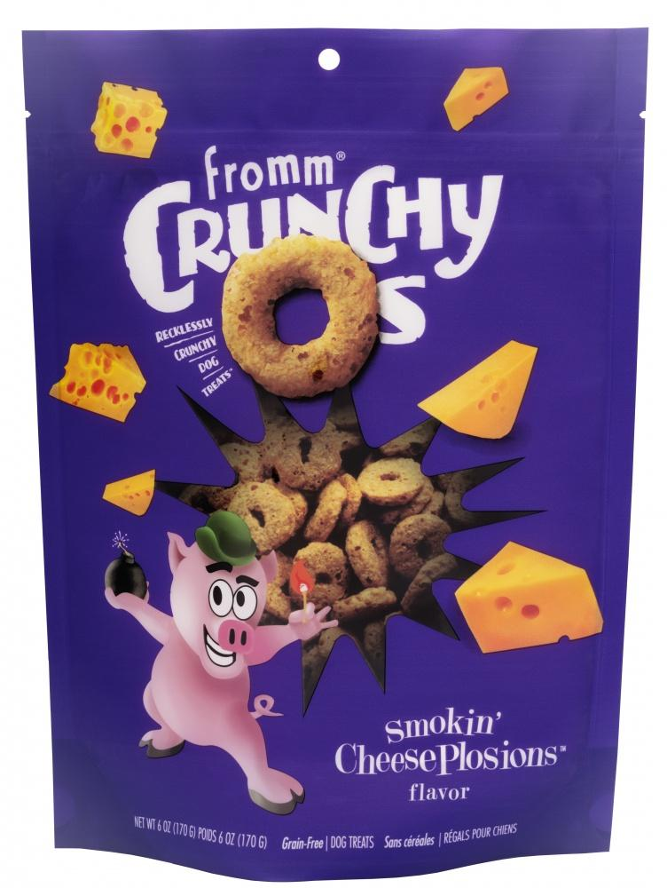 Fromm Crunchy O's Smokin' CheesePlosions Dog Treats, 6oz-Le Pup Pet Supplies and Grooming