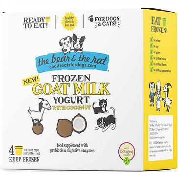 The Bear & The Rat Frozen Yogurt Goat Milk with Coconut Dog and Cat Food, 4pk-Le Pup Pet Supplies and Grooming