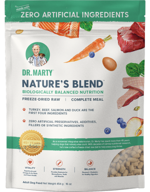 Dr. Marty's Freeze-Dried Nature's Blend Raw Dog Food